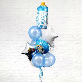 фонтан из воздушных шаров на выписку том