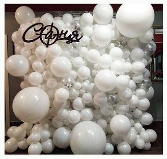Облако из шаров свадьба томск