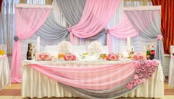 Фон нсвадьб. Свадебный стол.