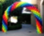 радужная арка из воздушных шаров томк за