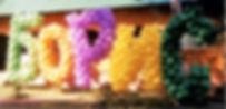 Буквы на  юбилей. Томск. Оформление юбилея