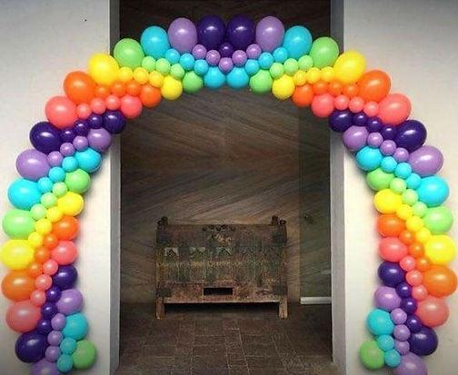 трехразмерная арка из воздушных шаров то