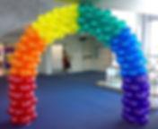 арка из воздушных шаровс однотонными отр