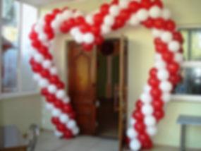 арка из воздушных шаров сердце томск зак