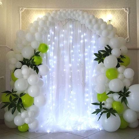 Арка из воздушных шаров. Оформлене свадь