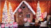 Новогодняя фотозона пряничный домик томс