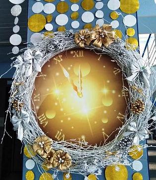 Украшение на новый год венок Томск Новос