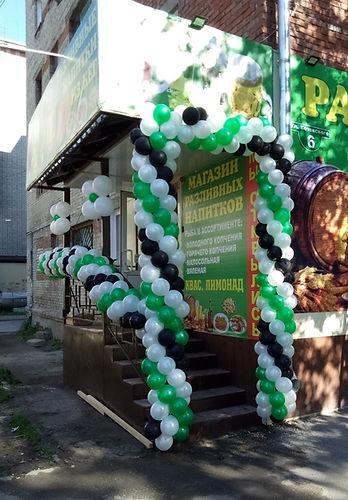 Открытие магазина оформление шарами томск