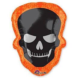 череп на хэллоуин