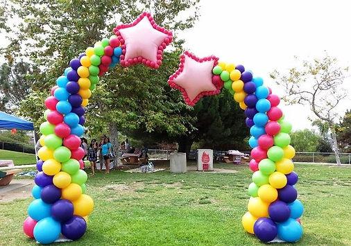 звездная арка из воздушных шаров томск з