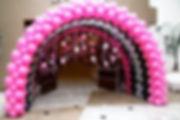 тунель из арок воздушных шаров  томск.jp