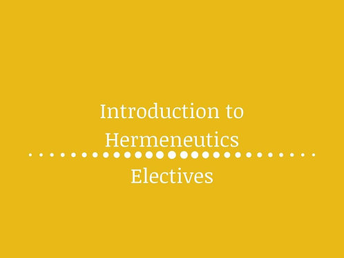Introduction to Hermeneutics