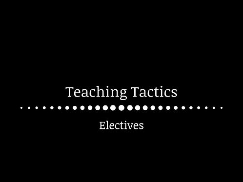 Teaching Tactics