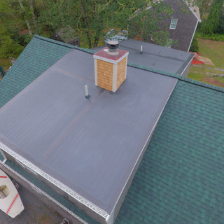 """""""Hunter Green"""" roof, with rubber dormer"""