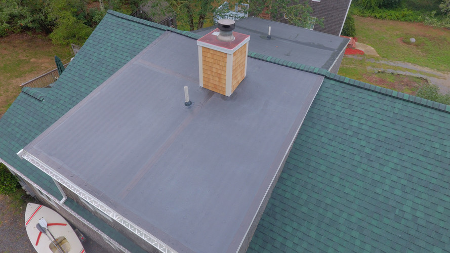 """Hunter Green"" roof, with rubber dormer"