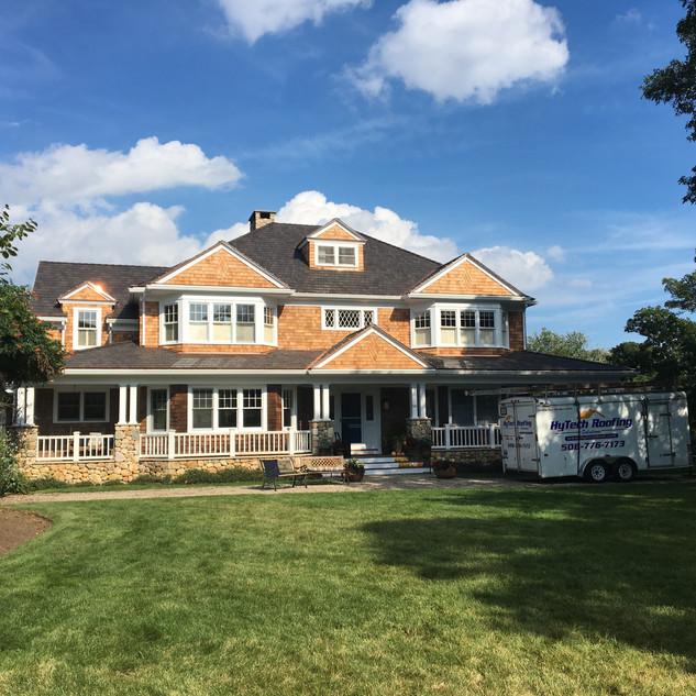 Davinci Roof & Red Cedar Siding