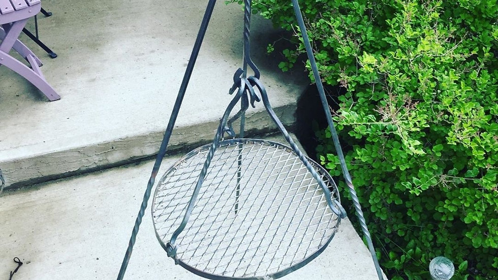 """Camping Fire Tripod with 18"""" Grill"""