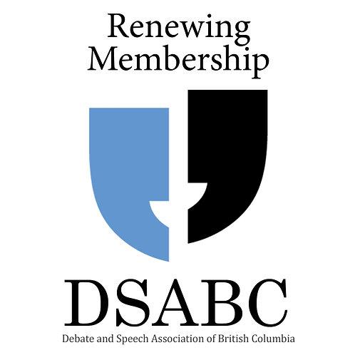 Renewing DSABC Membership
