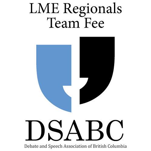 LME Regionals - Team Fee