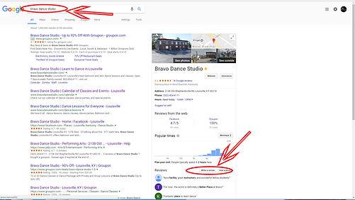 bravo dance studio on google