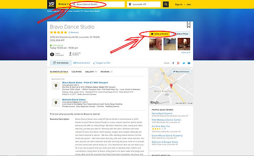 bravo dance studio on yellow pages