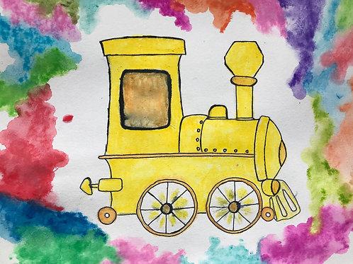 Golden Light Train- audio meditation story. Written and read by Sontaan