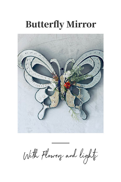Butterfly Light Up Mirror- Large