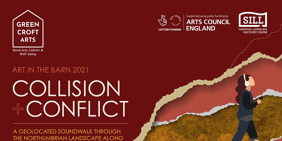 Collision + Conflict Guided Sound Walk along Hadrian's Wall