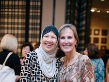 Shivaun Palmer (Right) wtih Noor Saadeh, Texas Muslim Women's Foundation