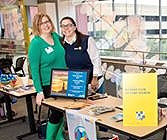 Beth Weibel (l), Sister Cities International with Alyson Pollak, CoFounder, DEI Consultants, LLC at Rotary Hands On Peace Event