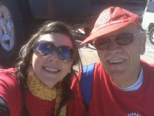 Alyson Pollak, Co-Founder, DEI Consultants with Dr. Paul Geisel, International Rotary Club Conference