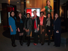 Shivaun Palmer, Moderator (center) with panelists at the National Diversity Council Women's Conference, SMU, Dallas, TX