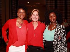 Shivaun Palmer, Co-Founder, DEI Consultants with Alicia Morgan (Left) and Liza Bell (Right) Womens Conference