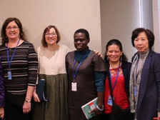 Cathy Holt (3rd from Left) at United Nations Womens Conference