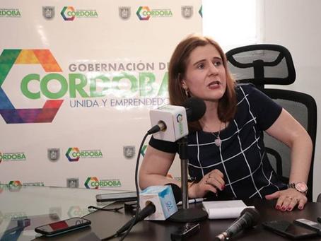 Sandra Devia, nueva Gobernadora encargada de Córdoba dio declaraciones.
