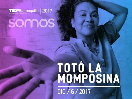 Toto la Momposina será conferencista de TEDxBarranquilla