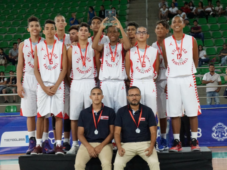 Atlántico subcampeón en Nacional de baloncesto sub-15