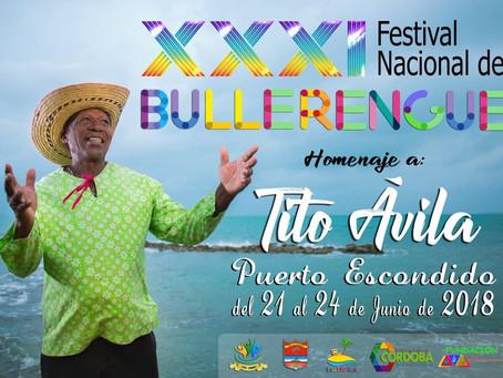 El bullerengue se celebrará en Puerto Escondido del  21 al 24 de Junio