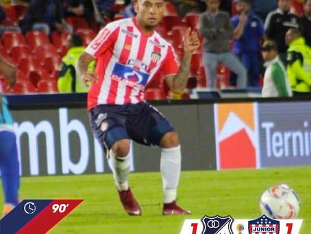 En medio de la polémica, Junior se trajo un empate de Bogotá