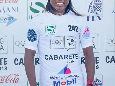 Wayúu participa en eliminatorias de Kiteboarding en República Dominicana