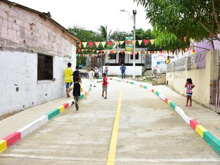 El barrio Bosque de Barranquilla con vías pavimentadas