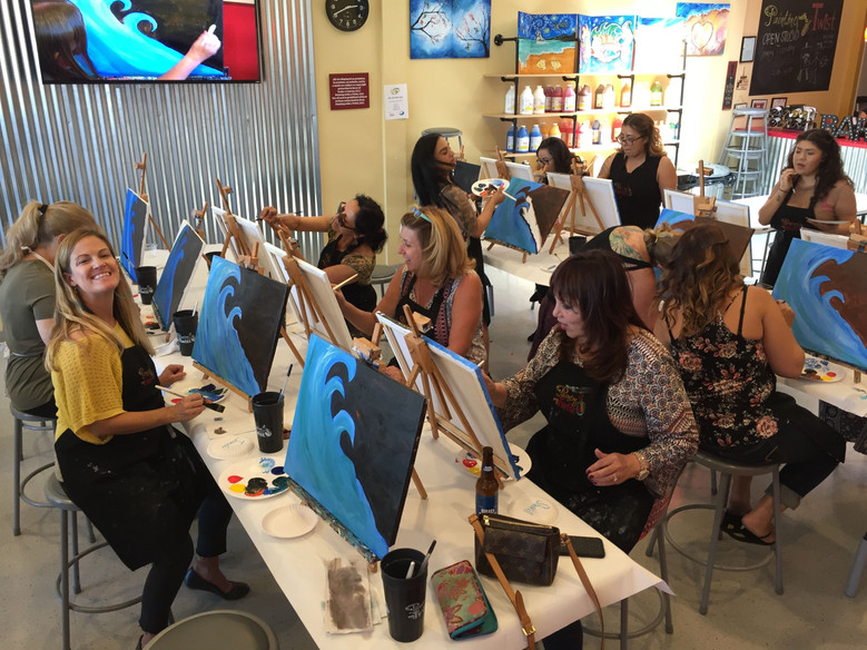 Great fun for a great cause, at Painting with a Twist fundraiser event in Camarillo