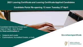 Leaving Certificate Examinations and Accredited Grades 2021