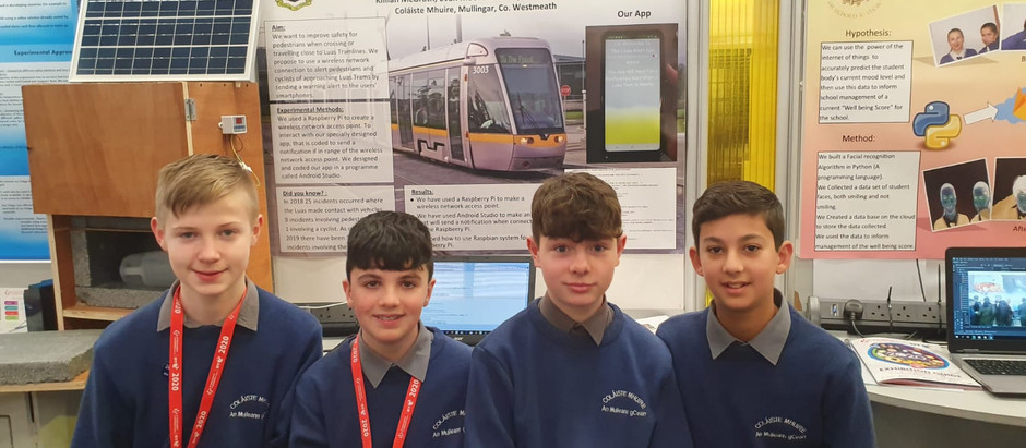 BT Young Scientist Exhibition recognises work of Coláiste Mhuire students and teacher.