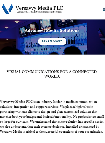 Versavvy Media legacy website homepage