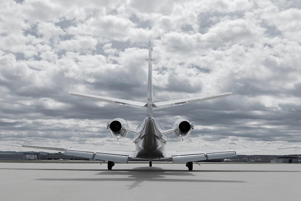 Private Jet on ramp