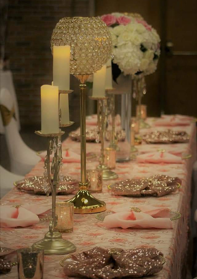 chair covers, chair sashes, and table linens