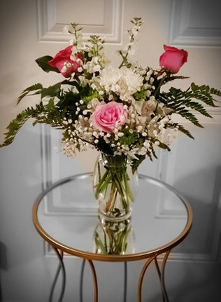 Beautiful Pink & White Arrangement