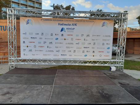 Sabartech en la carrera AECAP día mundial Cancer de Pulmón