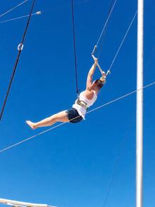 Doing trapeze!!